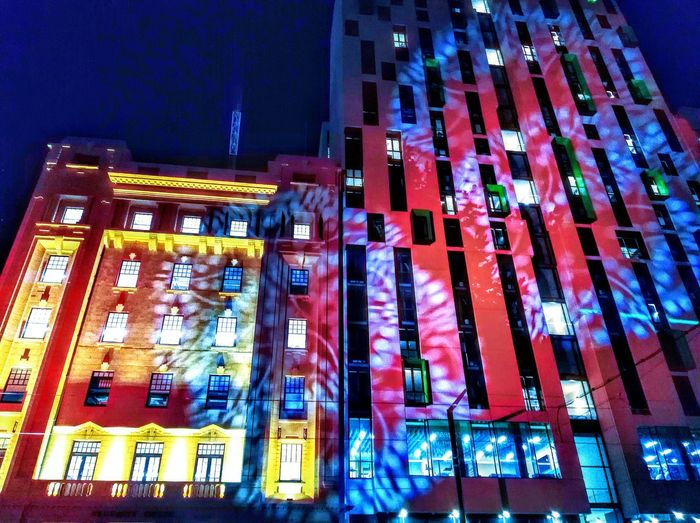 Night Nightphotography Night Photography Light No People ProjectedLights Taking Pictures Colors MultipleColors MultipleColours Built Structure Street Photography Streetphotography Taking Photos Colorful Multi Colored Fringe Festival Adelaide South Australia Adelaide Check This Out Adelaide S.A. Light Projection LightProjection Lights Adelaide Fringe Parade Of Light Illuminated Multi Colored Exterior Building