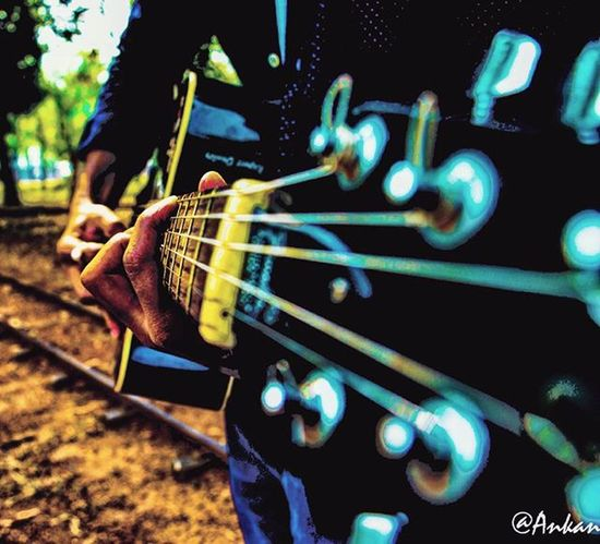 With every chord struck, the past hits me hard. I remember your fingers against mine, holding tight. The music same, the evening alike, just u nowhere in my life. (Caption by @ati_awesome) ~ ~ ~ ~ Igers Ig_india _ig_photobox Photographer Photogrid Nikonphotographers Igmusic Nikon_photography Instagram Photographersofinstagram Igs