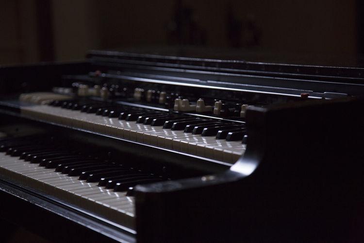Close-up of electric organ