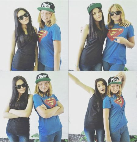 Taking Photos With Sister