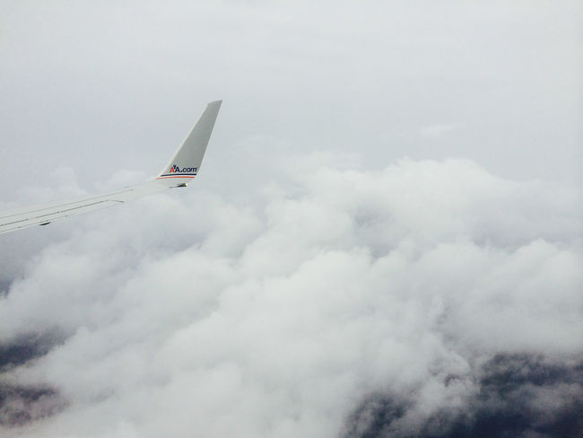 Aircraft wing tip in white clouds Air Vehicle Aircraft Aircraft Wing Airplane Airplane Wing Cloud - Sky Clouds Copy Space Day Flying Holiday Journey Low Angle View Mode Of Transport Nature No People Outdoors Plane Plane Wing Sky Transportation Travel Vacations White Let's Go. Together.