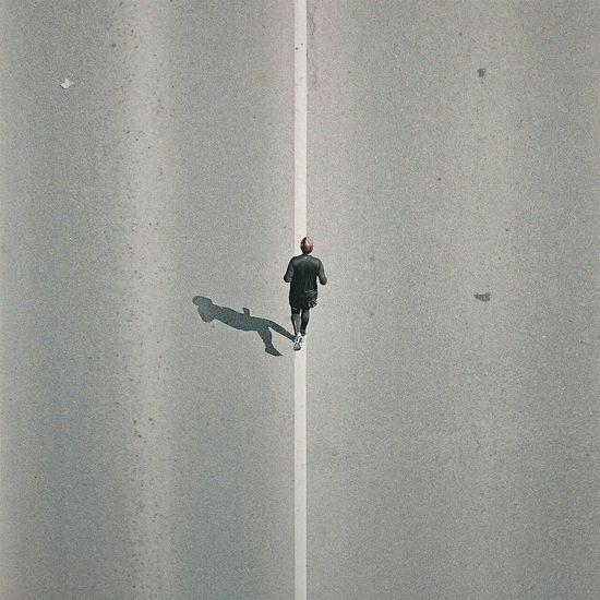 • white stripe with running man • The Moment - 2015 EyeEm Awards The Street Photographer - 2015 EyeEm Awards Minimalist Minimal Eye4photography  EyeEm Best Shots AMPt Community Market Bestsellers 2017 EyeEmNewHere EyEmNewHere