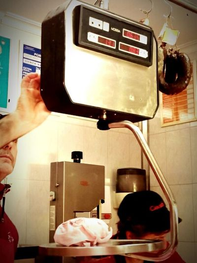 Precision butcher Weighing Meat Can Ros