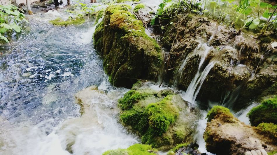 Water Nature Motion Long Exposure Beauty In Nature Waterfall No People Outdoors Day Tree High Angle View Forest Scenics Rocks And Water