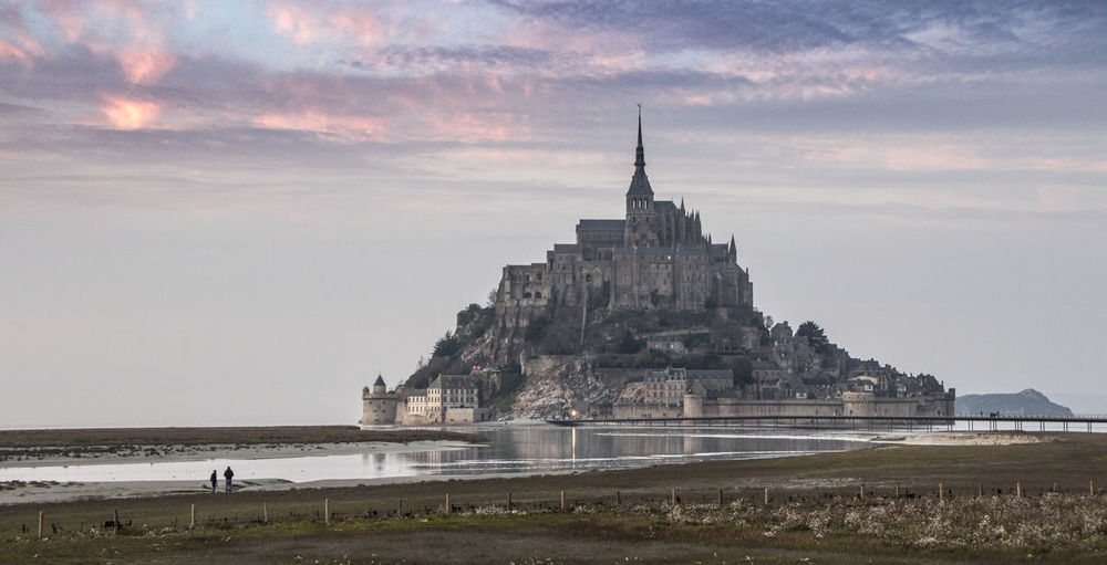 Architecture Religion History Spirituality Sunset Ancient Travel Travel Destinations Built Structure Business Finance And Industry Shrine Pyramid Outdoors Sky Building Exterior No People Day Nature Mont Saint-Michel Cloud - Sky Beach Day Beach Photography Beachphotography Tranquility Landscape