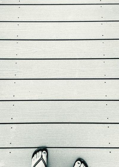 Blackandwhite Minimalism Minimalobsession Lines Textures And Surfaces Black And White Feet Flipflops Walkway Black & White
