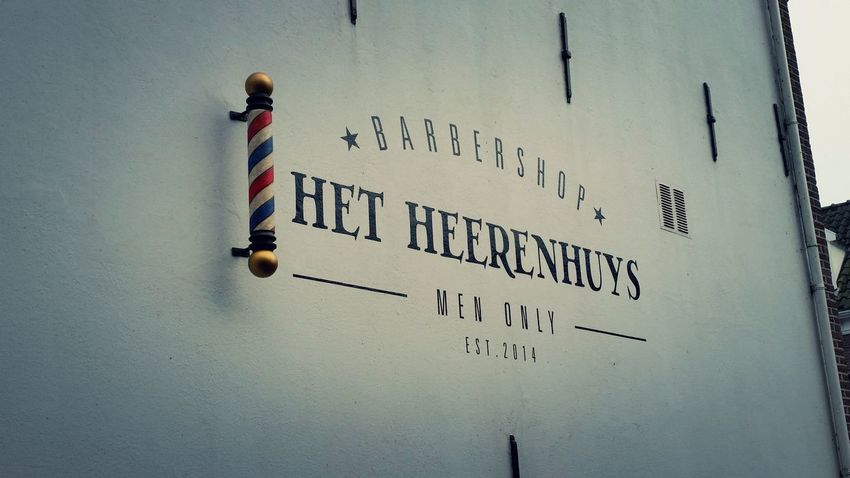 Barbershop Barber Barber Shop Old Building  Barber Pole Barber Sign Pole No People Netherlands Trough My Eyes Wall Sign Advertising