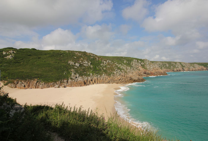 Porthcurno Cornwall English Beach Scene Beach Beauty In Nature Cloud - Sky Day Landscape Nature No People Outdoors Sand Scenics Sea Sky Tranquil Scene Tranquility Water