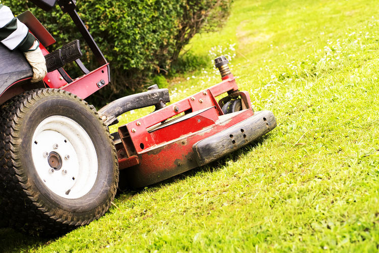 sewer line drainage by professional workers with hose and pressurized water of service truck Mower Lawnmower Gardener Grass Mover Lawn Service Utility Backyard Golf Summer Spring Work Equipment Vehicle Care Cut Electric Home Machine Motor Vehicle Green Color