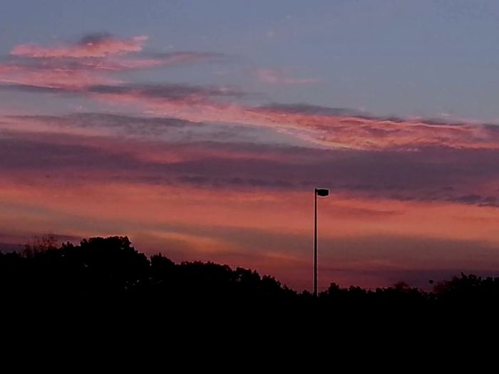 on the way to work Pink Sky Massachusetts