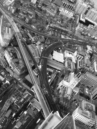 Amazing view from the Shard Aerial View Architecture Black And White Building Exterior City City Life Cityscape Cultures Day Downtown District High Angle View London Look Down No People Outdoors Road Road Network Skyscraper Travel Destinations View From The Shard