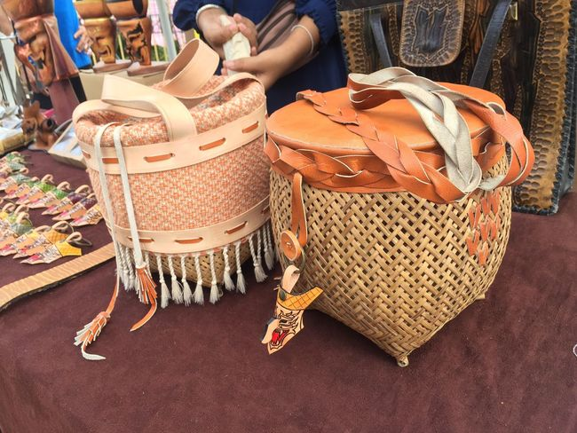 Fashion Retail  For Sale Purse Small Business Basket Store Market Indoors  Human Body Part Close-up Handmade Local Thai Craft Rattan Women Workshop Day One Person Human Hand People