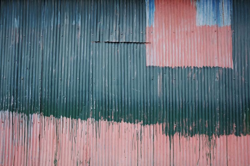 Old house colour Pink Pink Color Green Green Color Age-old Countryside Wood - Material Full Frame Pattern Old Weathered Textured  No People Architecture Built Structure Boundary Close-up Wall - Building Feature