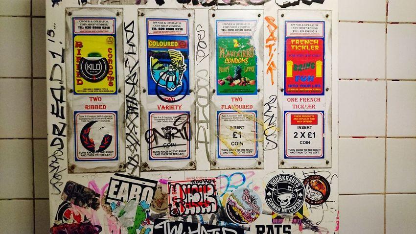 Toilet Art Graffiti Urban Lifestyle Condoms Vending Machine Public Toilets