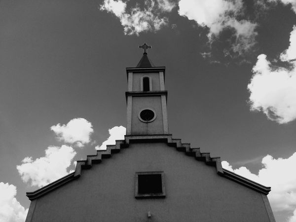 Igreja dos Santos Reis Church Blackandwhite Bw Architecture Building Exterior History Cloud - Sky Religion Built Structure Façade Travel Destinations Sky Outdoors No People Day Low Angle View Roof