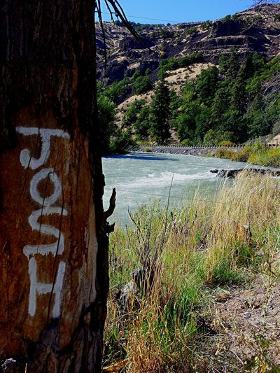 A random tag on a power pole😁😄😎🏞️😜 Outdoors Water Tree No People Day Nature Mountain Sky The Week On EyeEm Grafiti River Someone's Name Nature Canyon Tagged Rushing River Cold Water Summertime Roadtrip Eastern Washington Naches, Washington Random Acts Of Photography