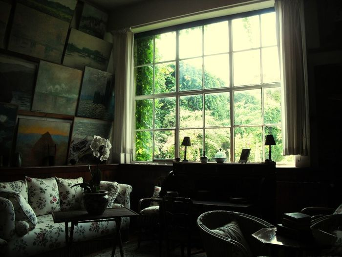 monet's house... Monet House Silence Moment Artist Studio Living Room Domestic Room Tree Rustic Domestic Life Home Interior Window Architecture Window Frame