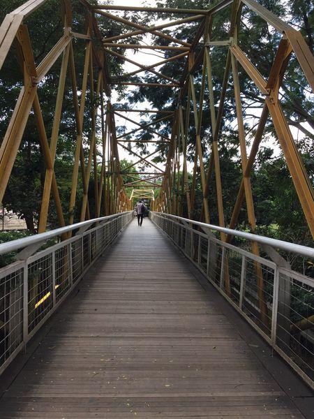 Hiworld Justwalk Justwalking Alone Alone But Not Lonely Bridge Bridge - Man Made Structure The Way Forward Justshoot EnjoyTheMoment Enjoytheview Enjoying The View ...at Sentul INDONESIA