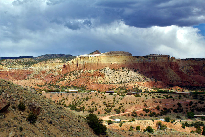 Abiquiu Abiquiu, NM Been There. Dramatic Sky Georgia O'keeffe Ghost Ranch  Great Outdoors Lost In The Landscape New Mexico Scenic American Southwest Clouds Landscape Light And Shadow Red Rocks  Scenics The Great Outdoors