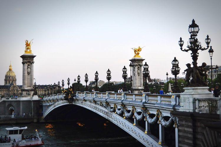 Monochrome Paris Bridge City Bridge - Man Made Structure Architecture Travel Historic