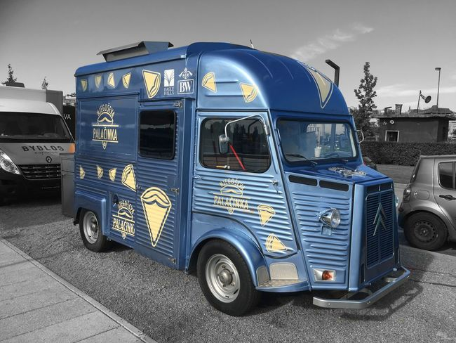 Oltimer transformed in food truck ;) Sava River Belgrade Waterfront Oldtimer Food Truck Belgrade Serbia No People Outdoors Stationary