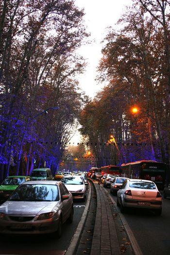 Streetphotography Tehran Teraffic Valiasr Street Blue Cars
