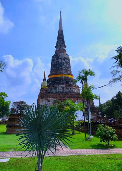 Architecture Building Exterior Built Structure History Spirituality Travel Destinations Sky Place Of Worship Religion Day Cloud - Sky Tree Ancient Civilization Grass Outdoors