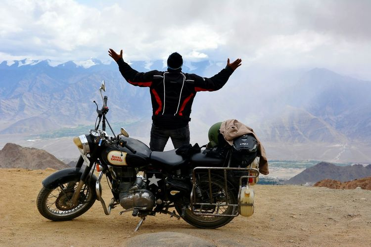 Motorcycle Feeling Inspired Feeling Beautiful Finding Beauty Biker Mountains Sky And Clouds Bike Rider Rider
