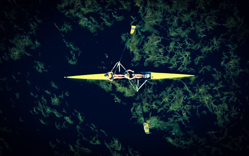 Rowing Water Sport Rowing Boats Rowing Dronephotography Dji DJI Mavic Pro Aerial View Transportation Mode Of Transportation Water Nautical Vessel Floating On Water