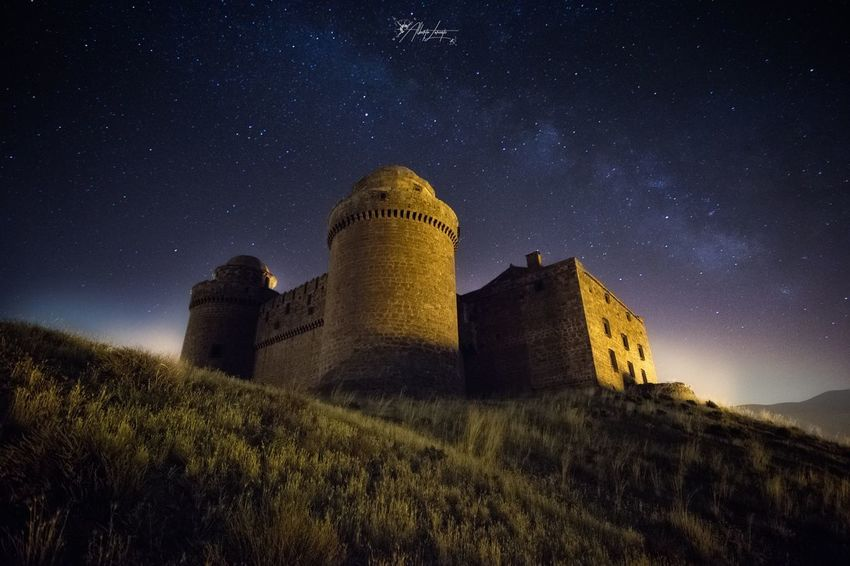 Magic night Forest Long Exposure Landscape Sky Night Star - Space Built Structure Building Exterior History Nature Space The Past Astronomy Old Fort Castle Plant Building Outdoors Land