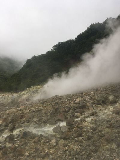 Beauty In Nature Day Erupting Geology Geyser Hot Spring Landscape Motion Mountain Nature No People Outdoors Physical Geography Power In Nature Scenics Sky Smoke - Physical Structure Steam Tranquility Volcanic Landscape