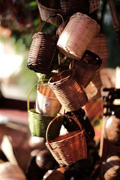 basketwork Thailand Handmade Handmade Basket Bamboo Basketwork EyeEm Selects Focus On Foreground Close-up Day Outdoors Craft Art And Craft