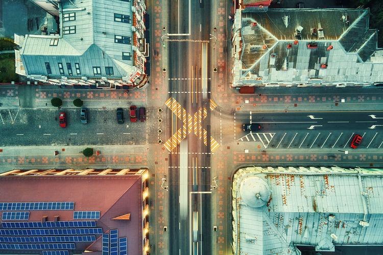 Full frame shot of illuminated city