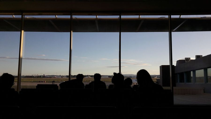 On my way back home. EyeEm EyeEm Best Shots EyeEm Selects EyeEmNewHere The Week On EyeEm Travel Valencia, Spain Adult Airport Architecture Built Structure City Day Indoors  Large Group Of People Lifestyles Men People Real People Silhouette Sitting Sky Sunset Window Women