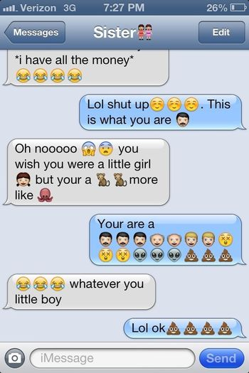 Me And My Sister Texting!!