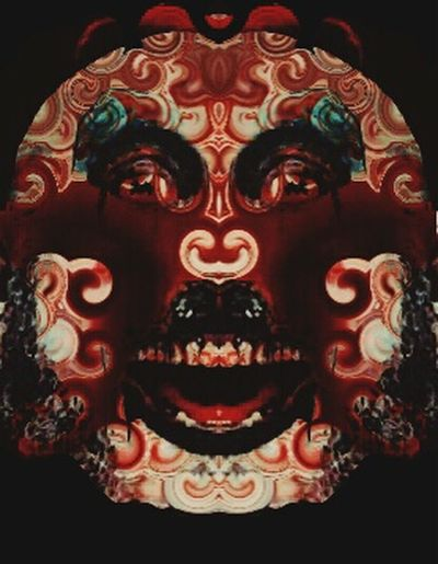 """""""A Tribute to Captain Spaulding"""" This piece was made from a photo of the human brain. ArtWork Art Abstract Art Dark Art Digital Art Abstract Artist Captainspaulding Devils Rejects Clown"""