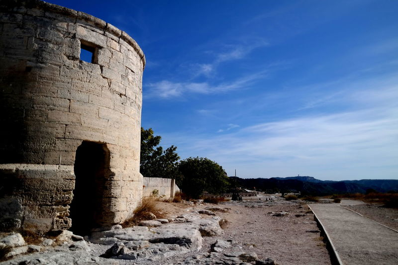 Architecture Blue Sky Built Structure Castle Cloud - Sky Countryside Eye4photography  EyeEm Best Shots EyeEm Gallery EyeEmBestPics France From My Point Of View Landscape_Collection Landscape_photography Les Baux De Provence Lesbauxdeprovence Low Angle View Old Tower Provence Ruined Building Stone - Object Surface Level The Week On EyeEm Tranquil Scene Tranquility