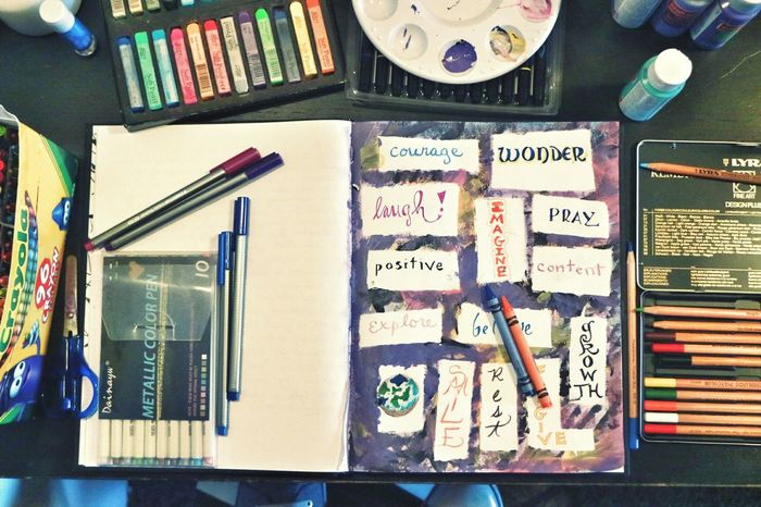 art journaling, page 5 Colored Pencil Indoors  ArtWork Art, Drawing, Creativity Artphotography Artoftheday Journal Artjournal ColoredPencils Pastels No People Neat Choice Education Day