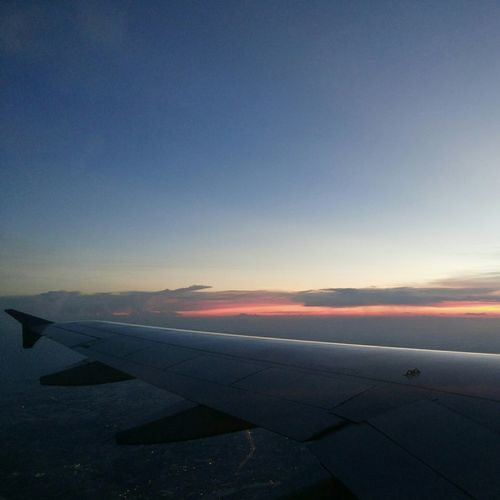 Suvarnabhumi Airport Boarding Bangkok Thailand. From An Airplane Window Sky Chiangmai