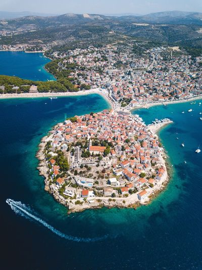 Summer in Croatia. Beach Croatia Sea Water Land Nature Aerial View High Angle View Beach Beauty In Nature No People Day Heart Shape Positive Emotion Tranquility Love Outdoors Scenics - Nature Emotion Travel Rock