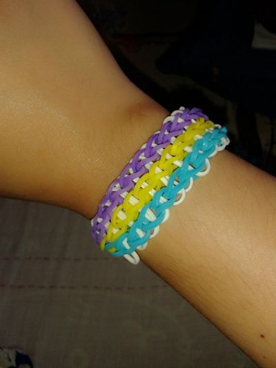 I really like making Loom bands.This one is called Triple Single Bracelet Taking Photos Check This Out Hello World Relaxing