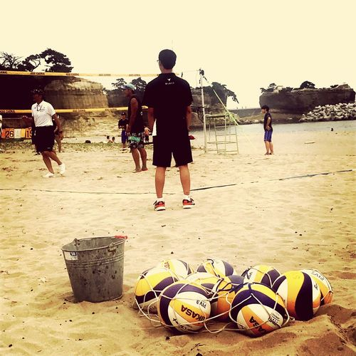 Beachvolleyball Field Beachvolleyball Miyagi,japan ビーチバレー Beach Group Of People Ball Water Outdoors
