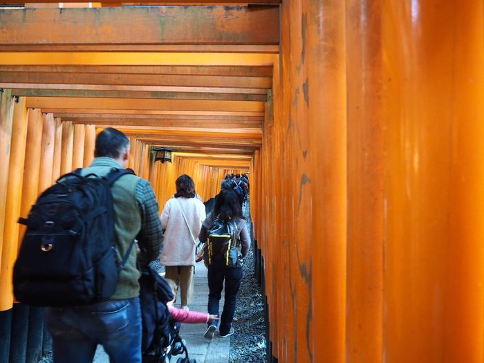 Kyoto Japan ASIA Inari Shrine Inari Real People Orange Color Gate Walking Day Outdoors Architecture People Autumn Olympus PEN-F