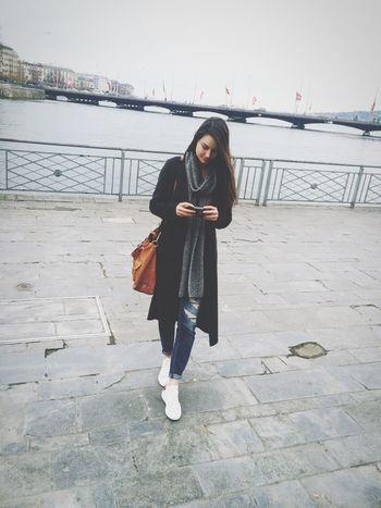 Ootd Jeans Coat Sneakers Isabelmarant Geneva Switzerland Girl Hair Scarf