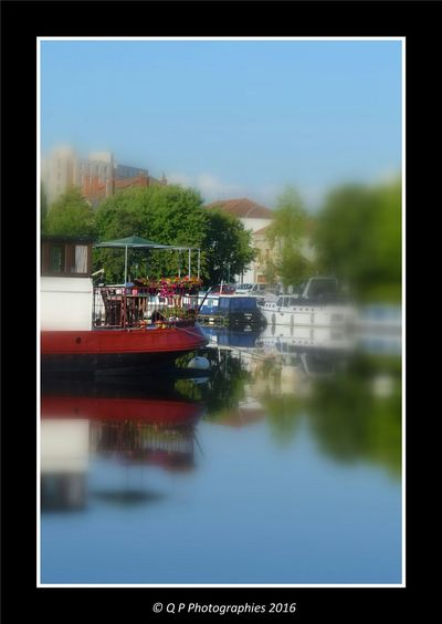 Port Harbour Roanne Canal Nature Photography Paysage Boats Water Reflections Water_collection Canals And Waterways