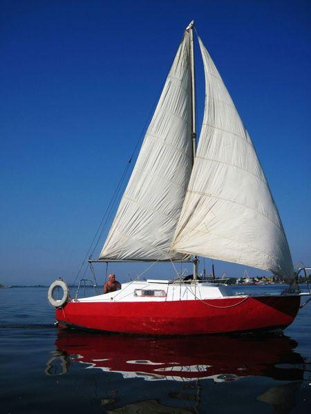 Dnieper Ukraine Blue Sky Yacht Rest Boat