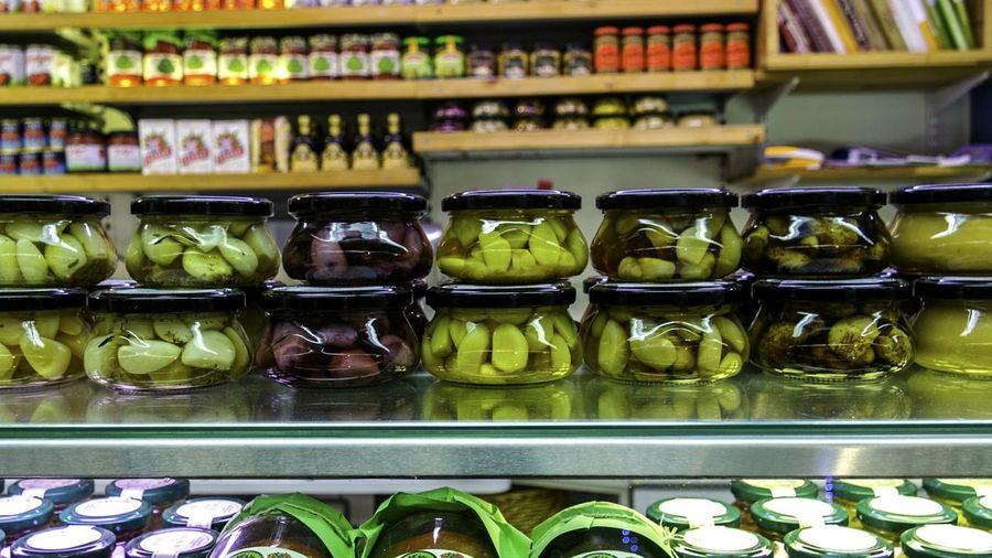 Variety of pickled vegetables for sale