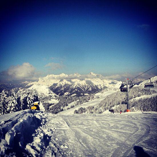 Mountains Winter Wonderland Skiing Sun_collection, Sky_collection, Cloudporn, Skyporn