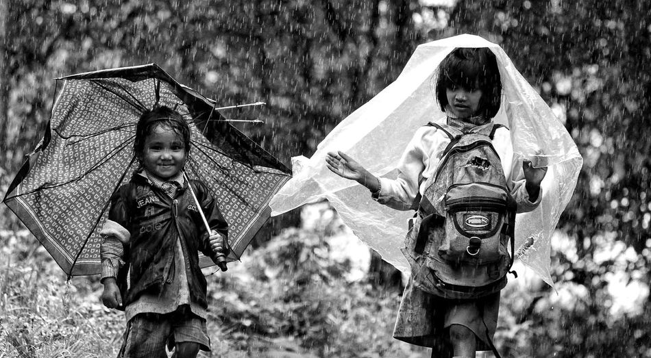 Rain Beautiful People Beautiful Smiles School Days Shillong_weather Outdoors Monochrome EyeEm Best Shots Beautiful People:-* Girls Village Life Shillong Photography Lovers Monochrome Photography Beautifulday After The Rain Tranquility