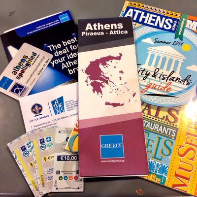 Thanks to the City of #Athens for the #TBEX welcome pack! \o/